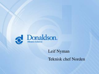 Leif Nyman Teknisk chef Norden
