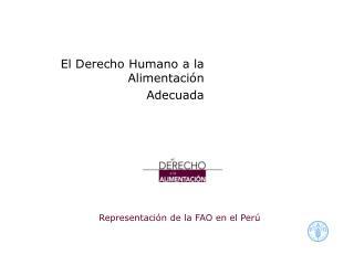 Representaci n de la FAO en el Per