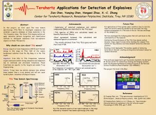 Terahertz  Applications for Detection of Explosives