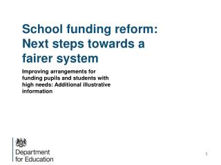 School funding reform: Next steps towards a fairer system
