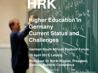 Higher Education in Germany  Current Status and Challenges