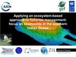 Applying an ecosystem-based approach to fisheries management: focus on seamounts in the southern Indian Ocean