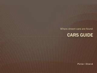 Cars Guide