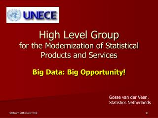 High Level Group for the Modernization of Statistical Products and Services