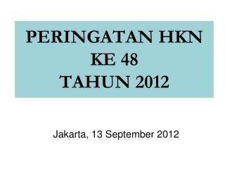 PERINGATAN HKN KE 48 TAHUN 2012