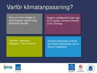 Varför klimatanpassning?