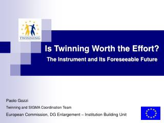 Is Twinning Worth the Effort? The Instrument and Its Foreseeable Future