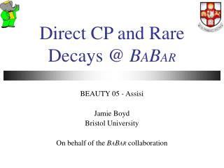 Direct CP and Rare Decays @  B A B AR
