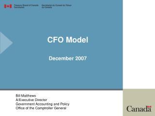 CFO Model December 2007