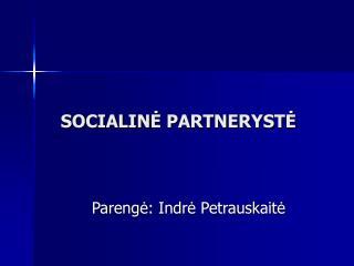 SOCIALIN ? PARTNERYST?