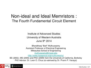 Non-ideal and Ideal Memristors :  The Fourth Fundamental Circuit Element