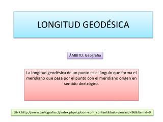 LONGITUD GEODÉSICA