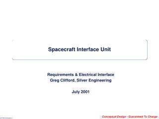 Spacecraft Interface Unit