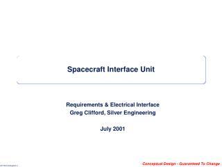 Spacecraft Interface Unit