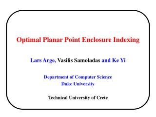 Optimal Planar Point Enclosure Indexing