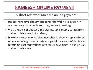 Take Professional Help For Business  about rameesh online pa