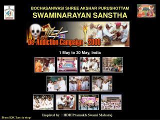 Inspired by  : HDH Pramukh Swami Maharaj