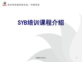 SYB 培训课程介绍