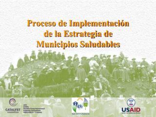 Proceso de Implementación de la Estrategia de Municipios Saludables
