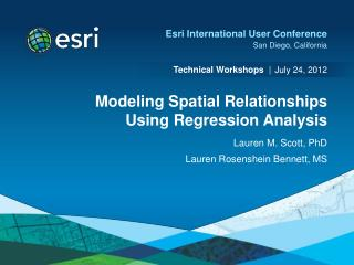 Modeling Spatial Relationships Using Regression Analysis