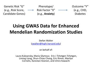Using GWAS Data for Enhanced  Mendelian  Randomization Studies
