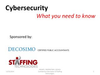 Cybersecurity What you need to know