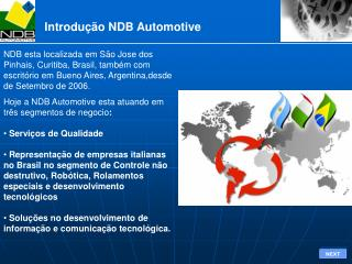 Introdução NDB Automotive