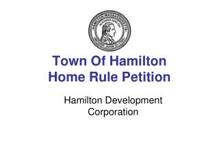 Town Of Hamilton Home Rule Petition