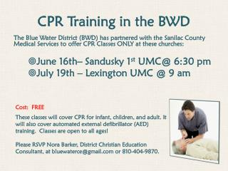 CPR Training in the BWD