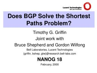 Does BGP Solve the Shortest Paths Problem?