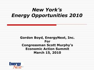 New York's  Energy Opportunities 2010