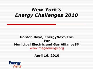 New York's  Energy Challenges 2010