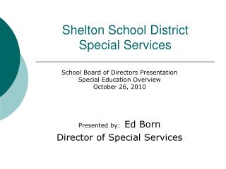 Shelton School District Special Services