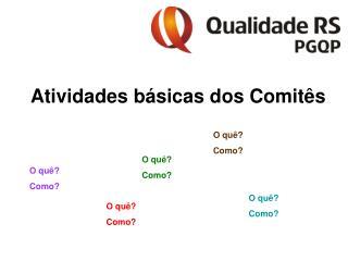 Atividades básicas dos Comitês