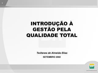 INTRODUÇÃO À GESTÃO PELA QUALIDADE TOTAL Teófanes de Almeida Elias SETEMBRO 2002
