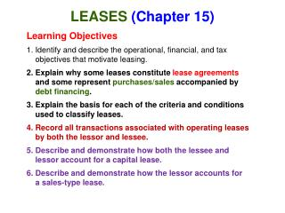 LEASES  (Chapter 15)