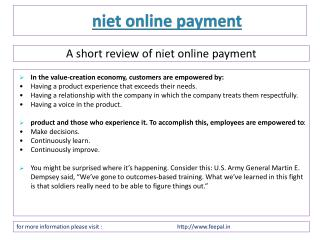 Getting some of the Best opportunity about niet online payme