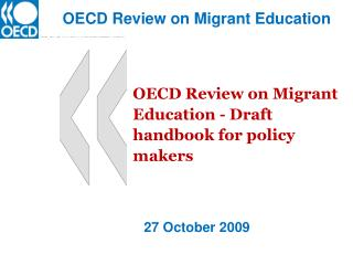 OECD Review on Migrant Education - Draft handbook for policy makers