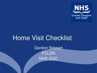 Home Visit Checklist