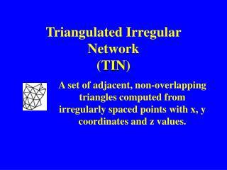 Triangulated Irregular Network ( TIN )