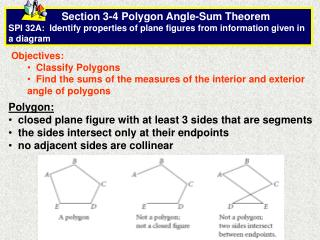 Objectives:   Classify Polygons