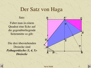 Der Satz von Haga