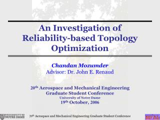 An Investigation of  Reliability-based Topology Optimization