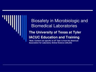 Biosafety in Microbiologic and Biomedical Laboratories