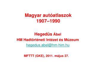Magyar autóatlaszok 1907–1990