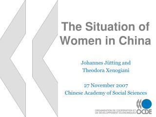 The Situation of Women in China