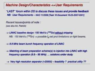 Machine Design/Characteristics   User Requirements