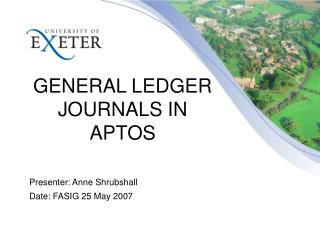 GENERAL LEDGER JOURNALS IN APTOS