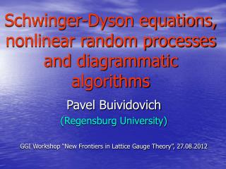 Schwinger-Dyson equations, nonlinear random processes and diagrammatic algorithms