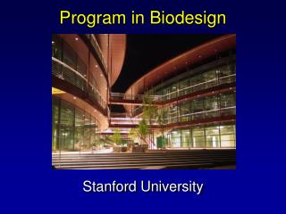 Program in Biodesign